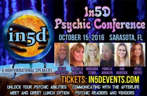 In5D Psychic Conference, Sarasota, FL October 15, 2016
